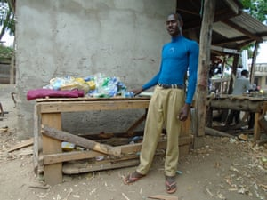 Oyombe Ochieng, a sofa upholster and salesman in Nansio, Ukerewe's largest town.