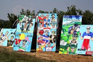 Fan art on the side of the road.