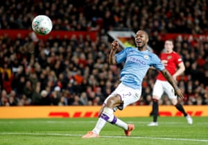 Manchester City's Raheem Sterling misses the target.