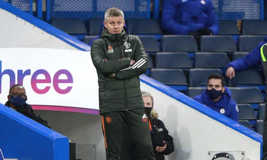 Ole Gunnar Solskjaer struggled to contain his anger after Manchester United's stalemate with Chelsea.
