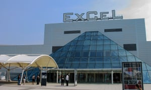 The ExceL centre in Docklands, London.