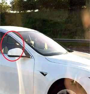 Bhavesh Patel moved to the passenger seat after switching on his car's Autopilot feature as he travelled on the motorway.