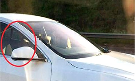 Photo issued by Hertfordshire Constabulary of Bhavesh Patel, who moved to the passenger seat after switching on his car's autopilot feature as he travelled on the motorway.