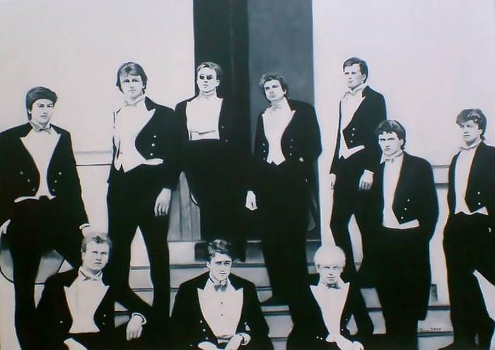 Image result for boris johnson in the bullingdon club 1980s