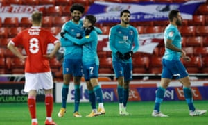 Philip Billing celebrates his goal for Bournemouth.