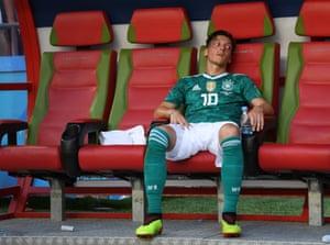 Mesut Özil is left reeling after Germany's loss to South Korea.