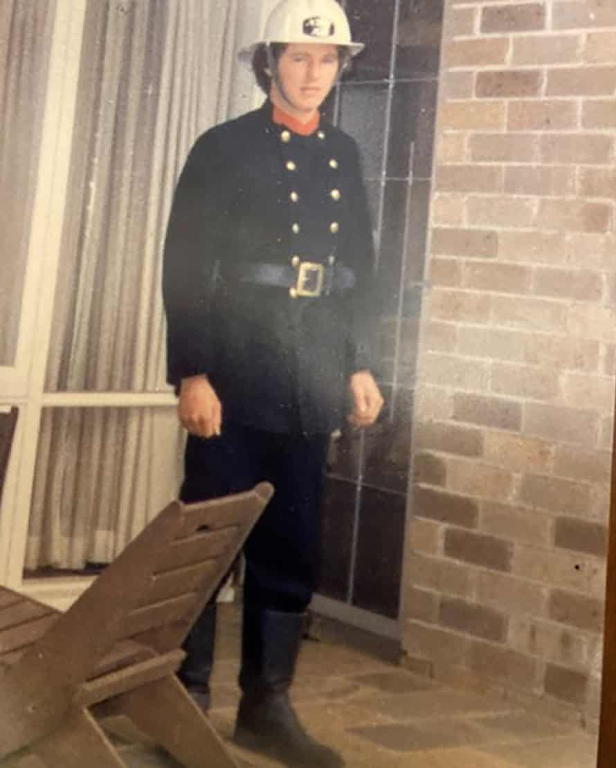 A young Greg Mullins in uniform