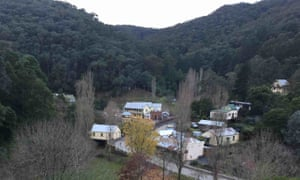 A view of historic goldfields town Walhalla in Gippsland