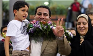 Amiri was given a hero's welcome when he arrived at Imam Khomeini airport in Iran in 2010
