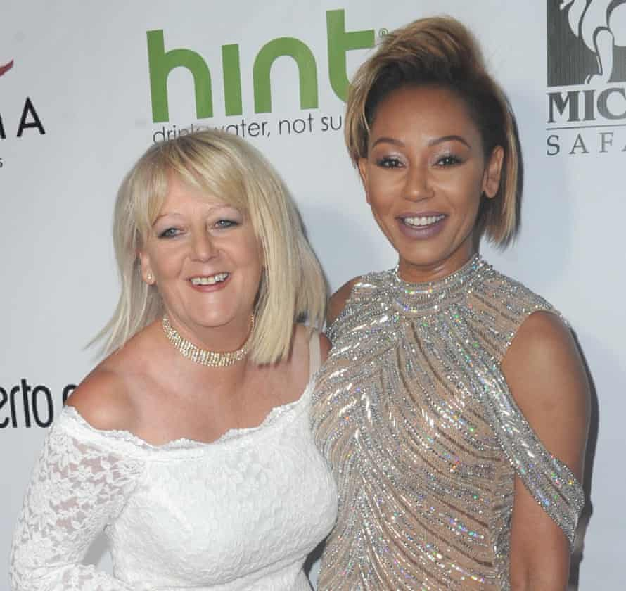 Mel B with her mother, Andrea