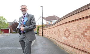 Conservative candidate Stuart Rawling canvassing in the Rawcliffe and Clifton Without ward