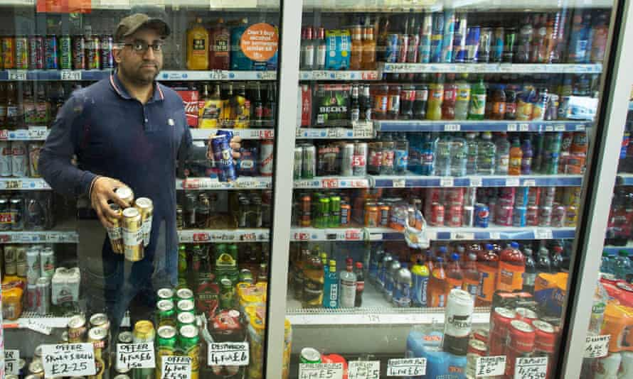 Imran Mohammed of Drinks Express in the Parkhead area of Glasgow says he plans to stop stocking most of his cheaper brands.