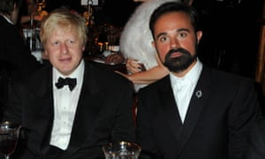 Boris Johnson and Evgeny Lebedev at a Hampton Court Palace dinner in 2009