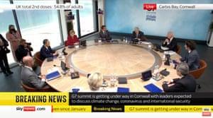 Boris Johnson chairing first meeting of G7 summit