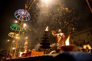 Ganga Aarti ceremony in Varanasi