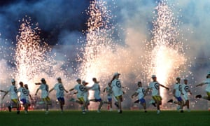 The Sky Strikers strut their stuff at Highbury for Arsenal's 2-0 win over Oldham in 1992
