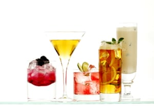A group of cocktails