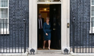 Scottish First Minister Nicola Sturgeon and Scottish Brexit minister Michael Russell leave No 10 Downing Street.