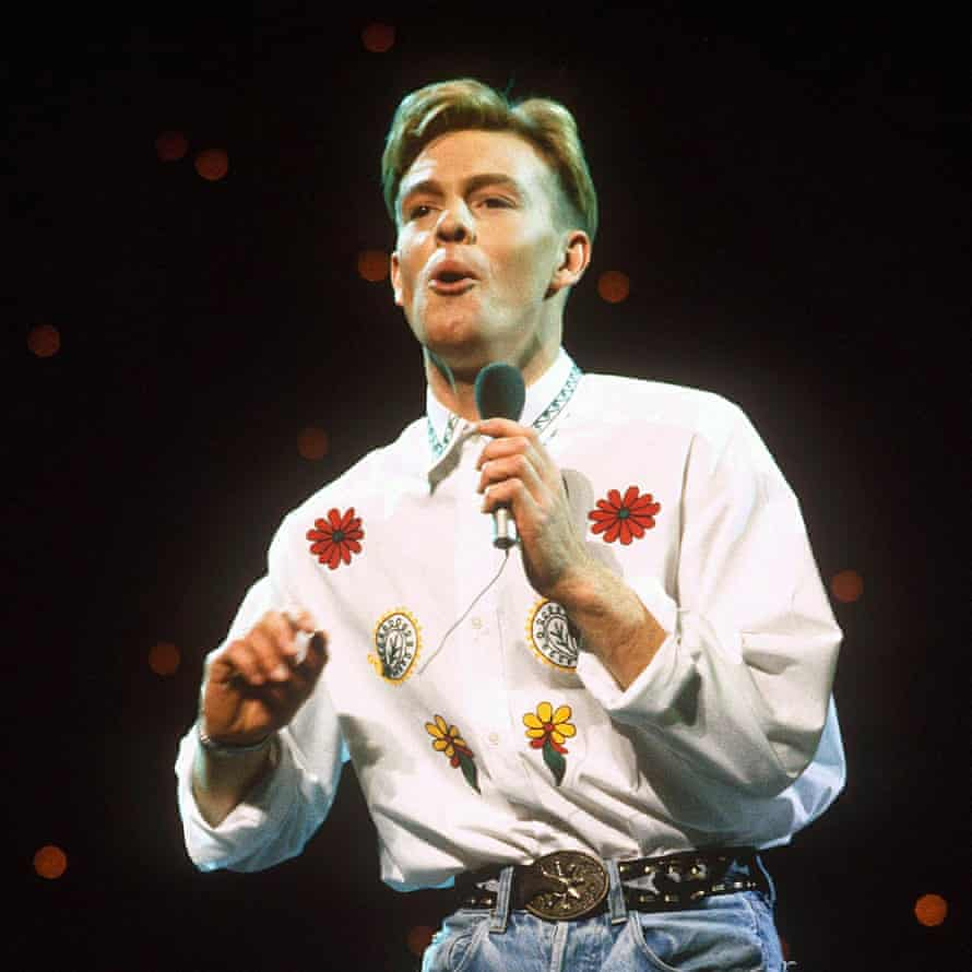 Performing at the Royal Variety show in London, 1989