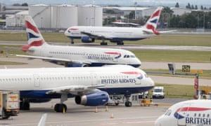 Aircraft at London's Heathrow airport.