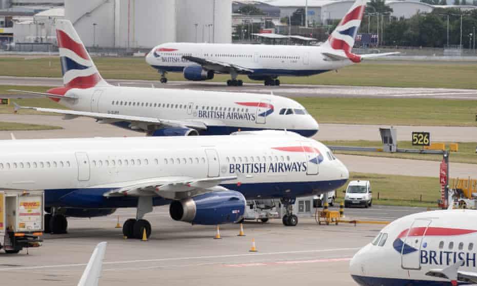 Aircraft at London's Heathrow airport