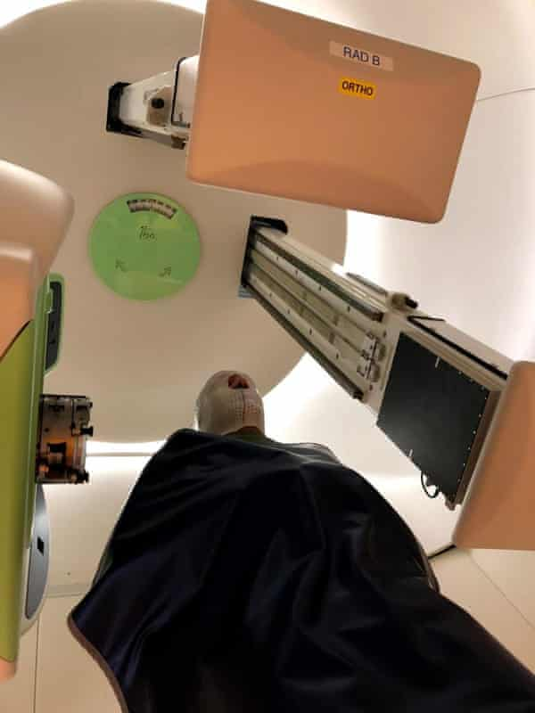 José Enrique during his treatment.