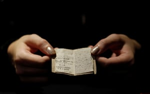 Paris, France The second issue of Young Men's Magazine, a miniature manuscript written by Charlotte Bronte when she was 14 years old in 1830, is displayed before being put on auction in Paris