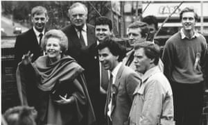Letwin as a young adviser to Margaret Thatcher