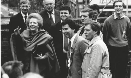 Oliver Letwin with Margaret Thatcher.
