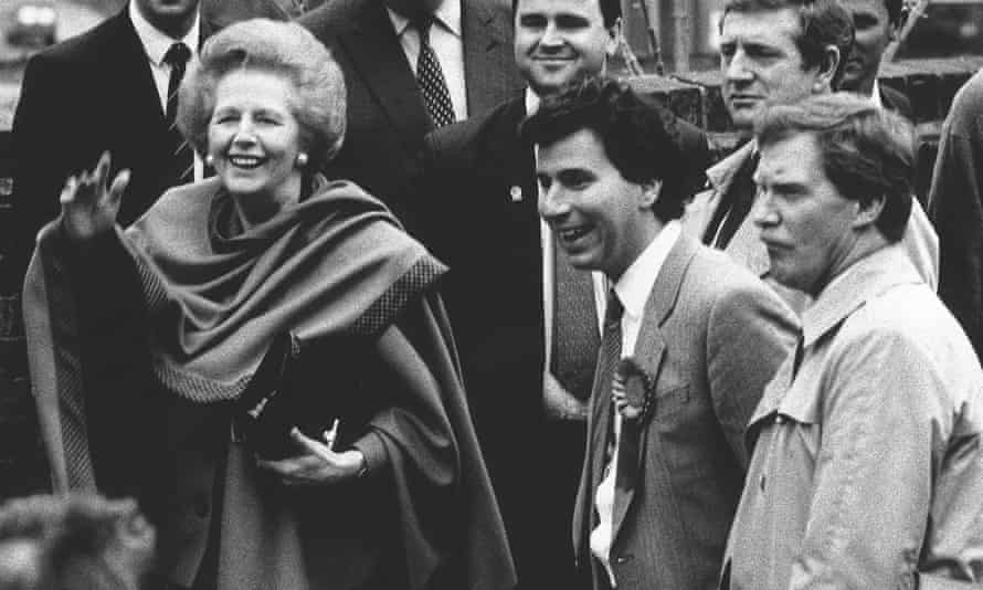 Margaret Thatcher next to Oliver Letwin