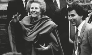 Margaret Thatcher and Oliver Letwin in 1992.