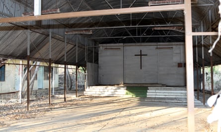 The ruins of a church hall
