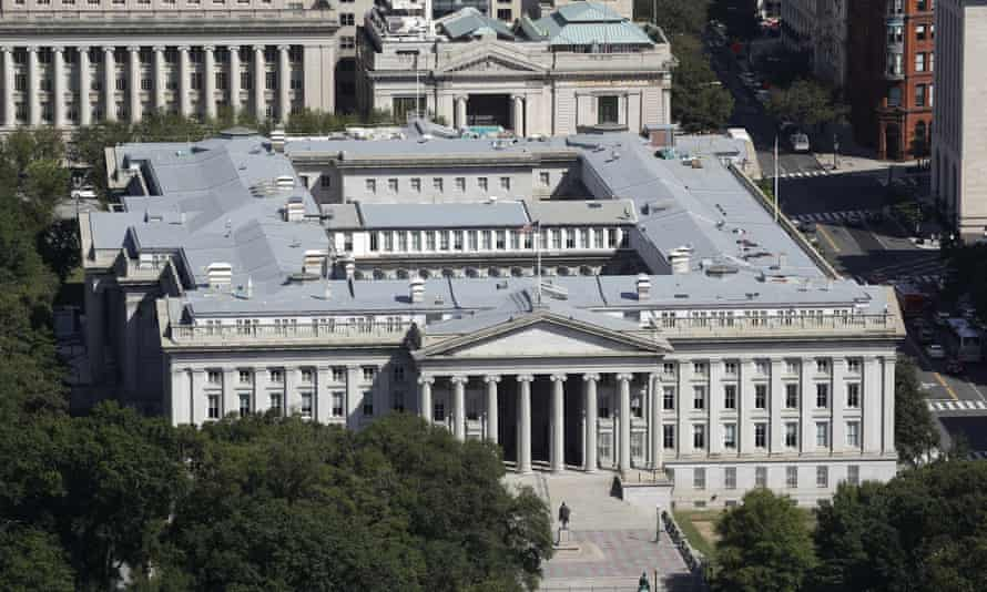 The US treasury was one of the departments hit by the hack.