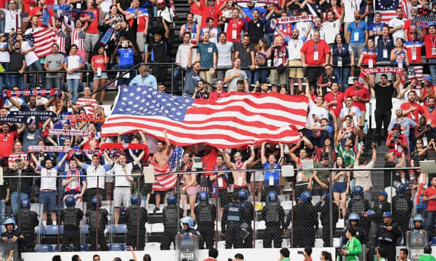 US fans at a soccer match against Mexico in 2017.