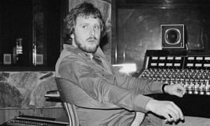Martin Birch working with Rainbow in April 1976.