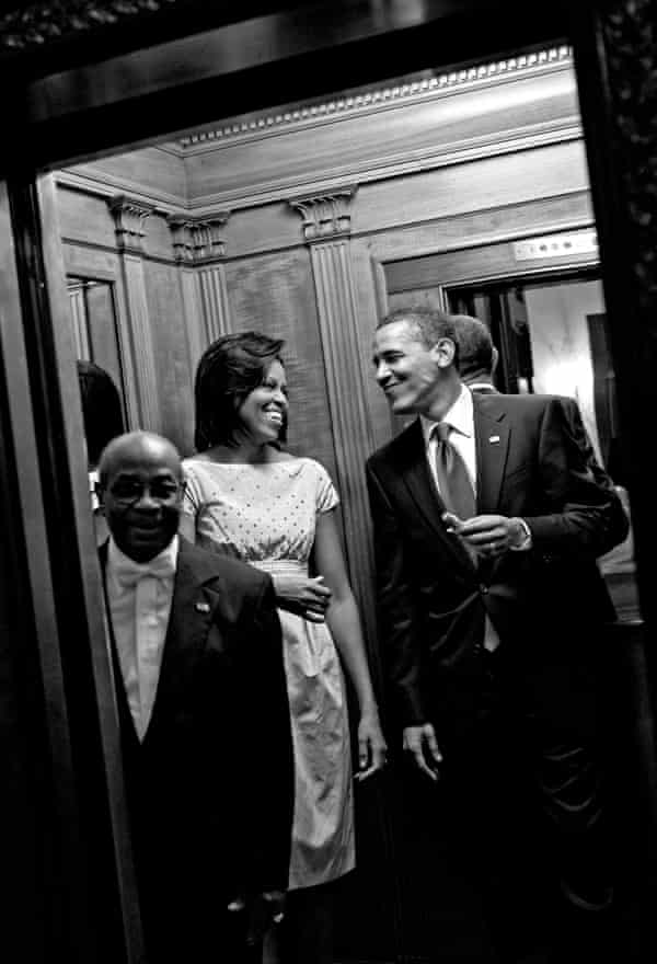 The Obamas at the White House in 2009