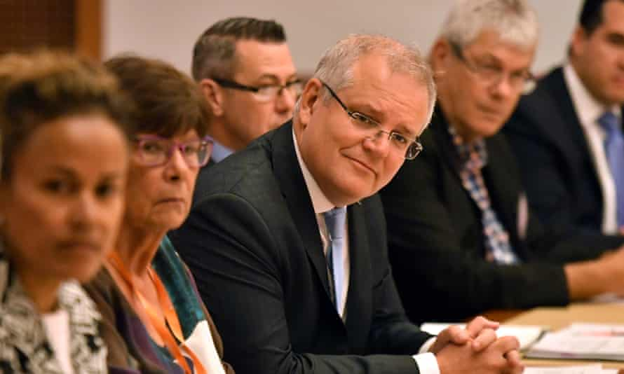 Prime minister Scott Morrison at the Indigenous peak bodies roundtable in January
