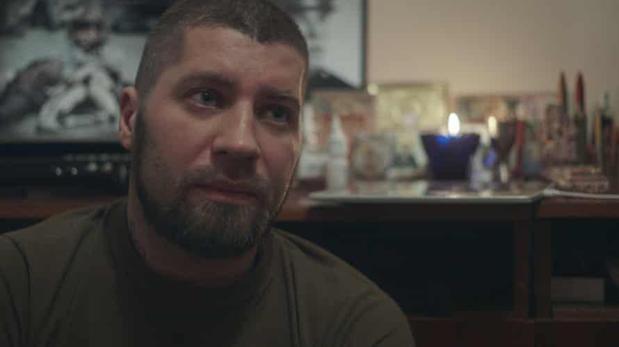 Denis Kuznetsov, deputy commander of the Luhansk chapter of Russia's Night Wolves biker gang