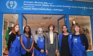 July worked with Islamic Relief, the Norwood Charity, the London Buddhist Centre and the Spitalfields Crypt Trust.