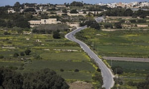 View from hill overlooking Daphne Caruana Galizia's home