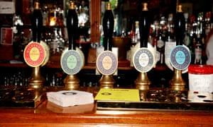 Beer pumps bearing the Mulberry brand