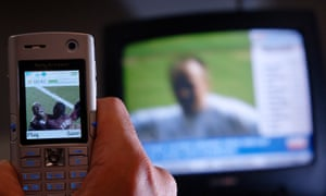 Watching TV on mobile phone