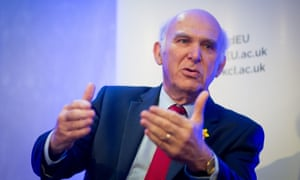 Sir Vince Cable at the UK in a Changing Europe conference.
