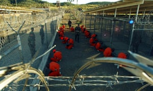 Images such as this of detainees in orange jumpsuits at Camp X-Ray at Guantánamo Bay in Cuba in 2002 shocked the world.
