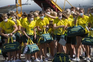 Members of Australia's Olympic team depart for the Tokyo Games from Cairns