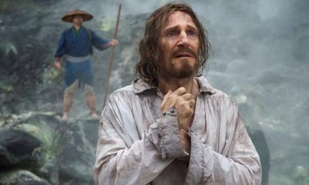 Liam Neeson as the apostate Ferreira in Martin Scorsese's Silence.