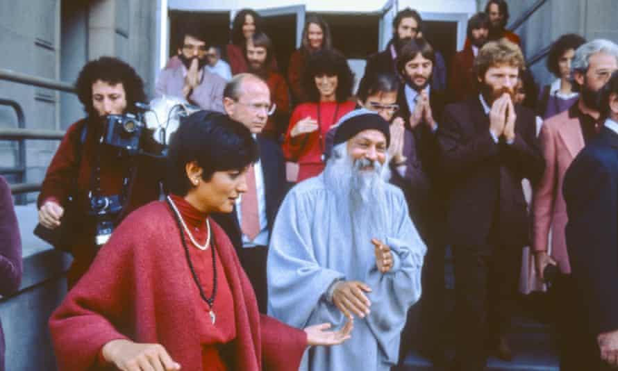Bhagwan Shree Rajneesh and Sheela in 1982