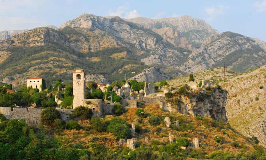 Stari Bar, a ruined Byzantine fortified city.