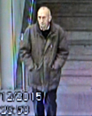 CCTV of the man at Manchester Piccadilly.
