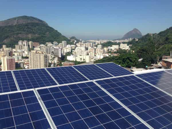 Solar panels on the roof of the creche in Santa Marta, installed by local startup Insolar and paid for by Shell